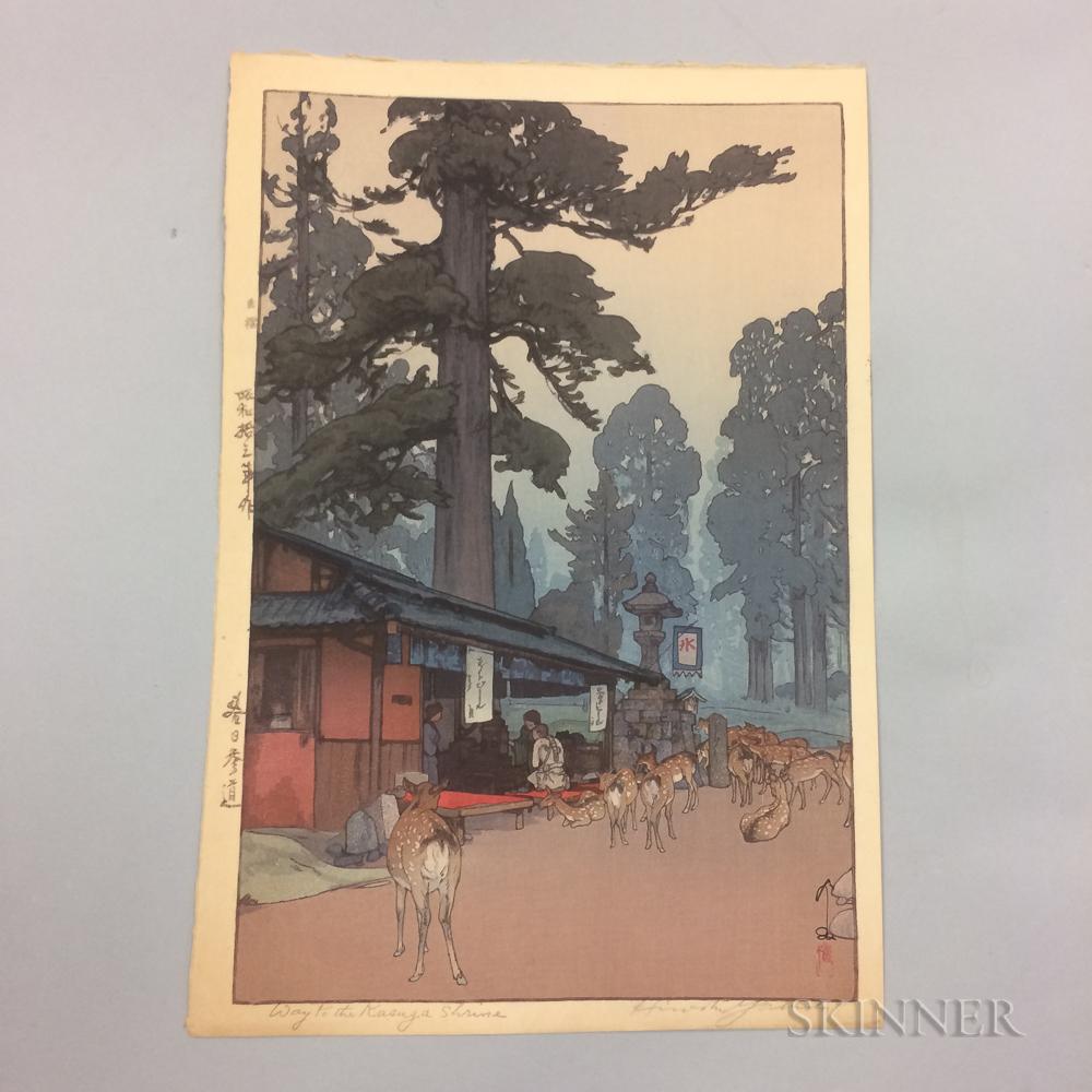 Hiroshi Yoshida (1876-1950), Way to the Kasuga Shrine