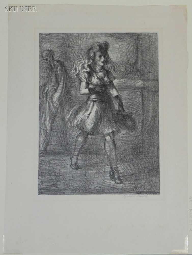 Reginald Marsh (American, 1898-1954)      Girl Walking