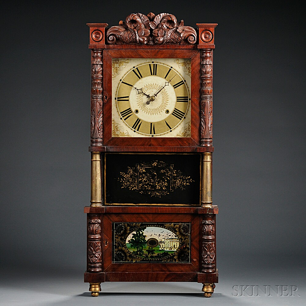 C. & L.C. Ives Triple-decker Clock