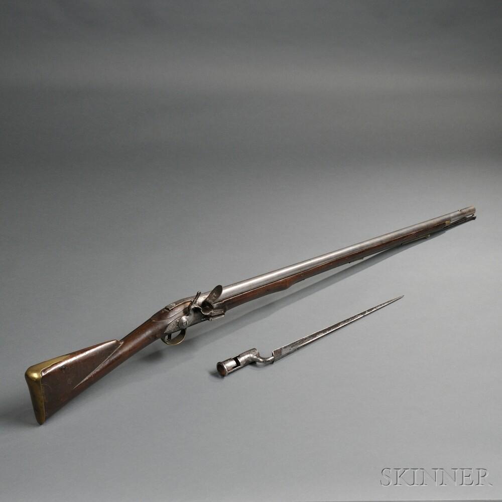 East India Company Flintlock Musket and Bayonet