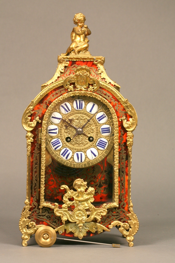 Miniature Boulle Table Clock