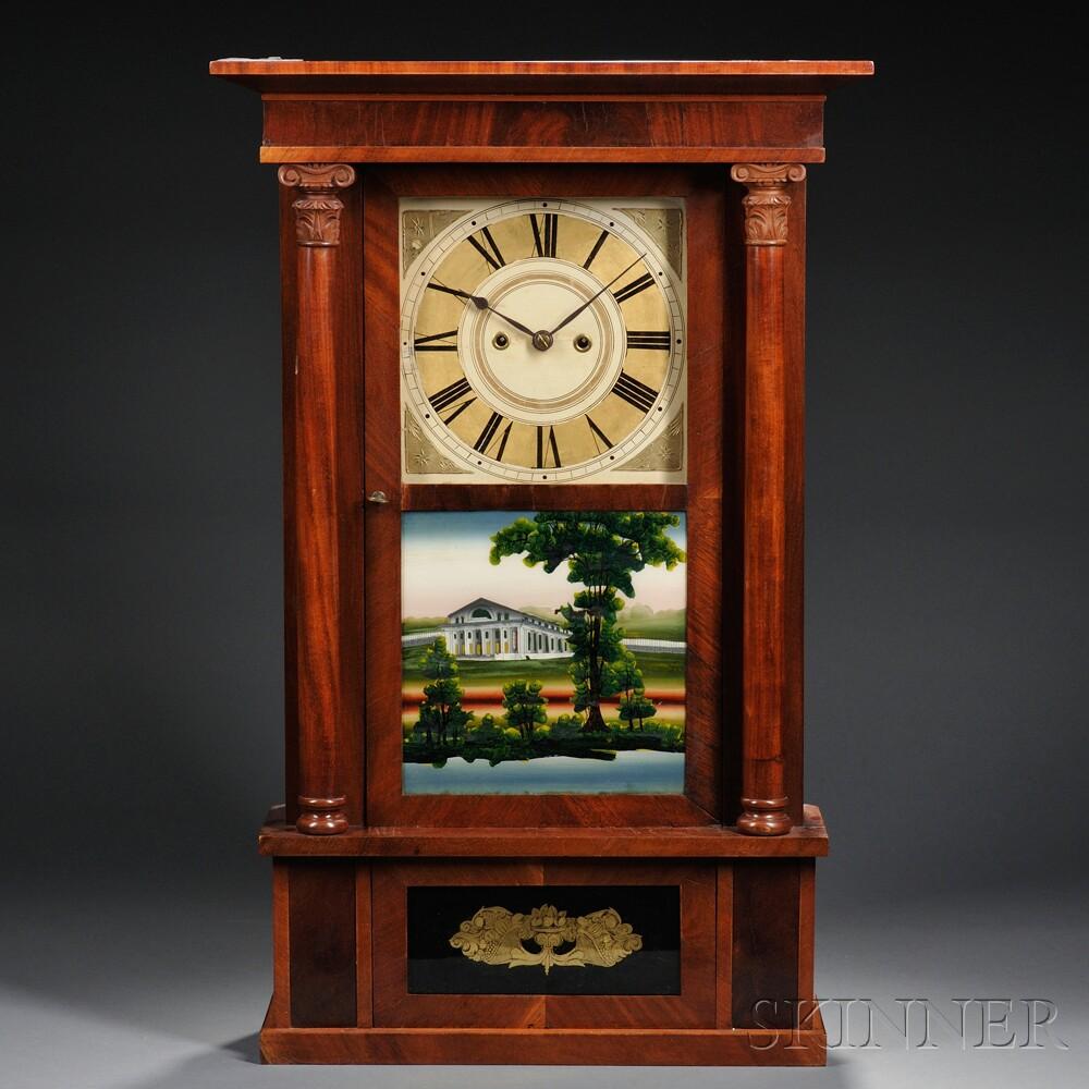 Spencer & Wooster Mahogany Shelf Clock