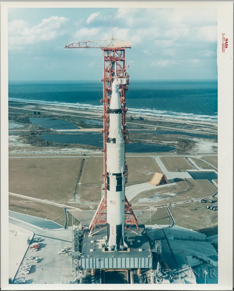 Apollo 4 on Pad, Kennedy Space Center, Florida, November 8, 1967.