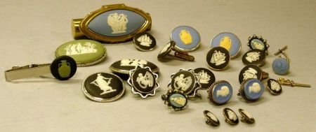 Twenty-four Pieces of Modern Wedgwood Jasper Jewelry.