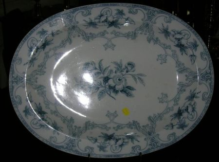Large Wedgwood Transfer Shannon Pattern Ironstone Deep Platter