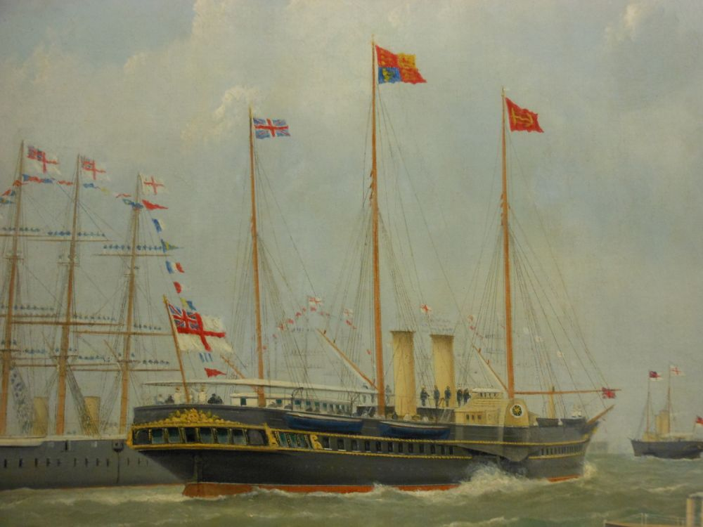 George Mears (British, 1826–1906)      The Royal Yacht at Margate