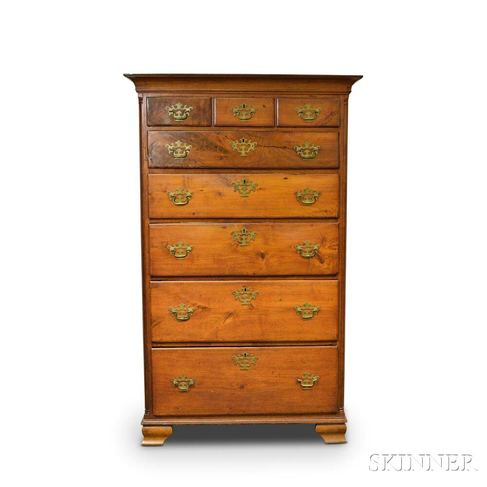 Chippendale Carved Walnut Tall Chest