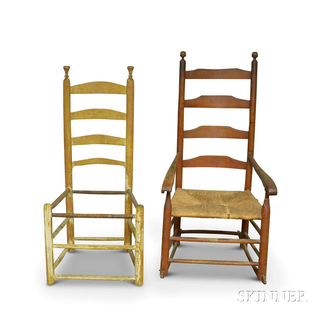 Two Ladder-back Chairs