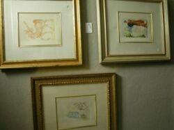 Lot of Three Framed Prints
