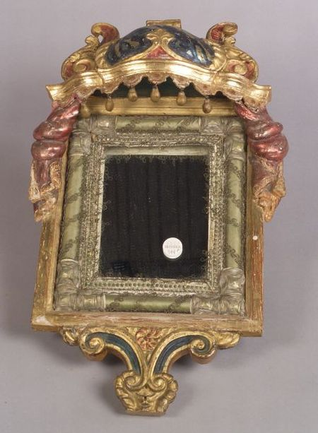 Pair of Portuguese Baroque Style Giltwood Mirrors