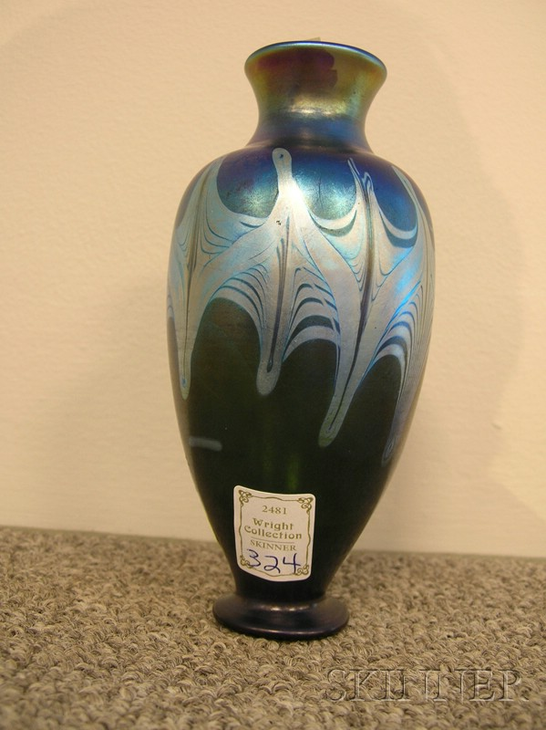 Tiffany and Company Favrile Glass Mantel Vase