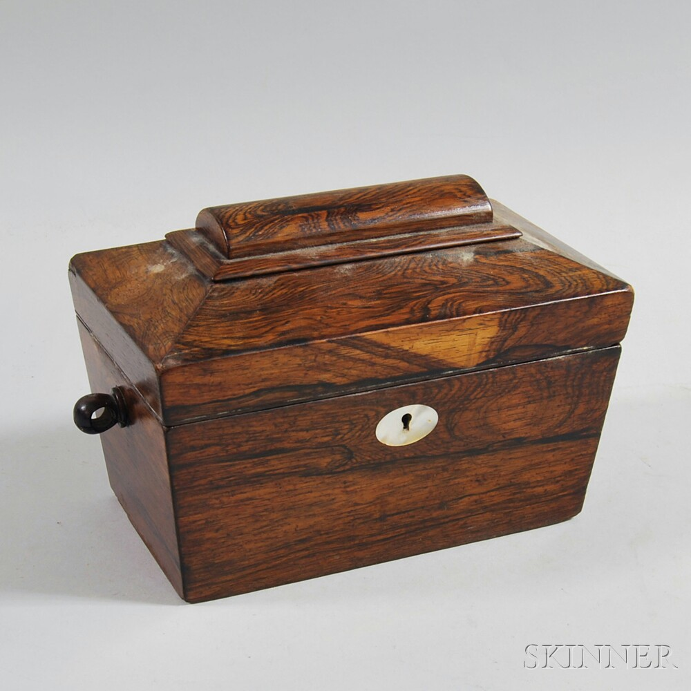William IV Calamander Coffin-form Tea Caddy