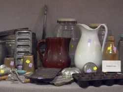 Thirty-six Piece Group of Country Domestic and Vintage Items