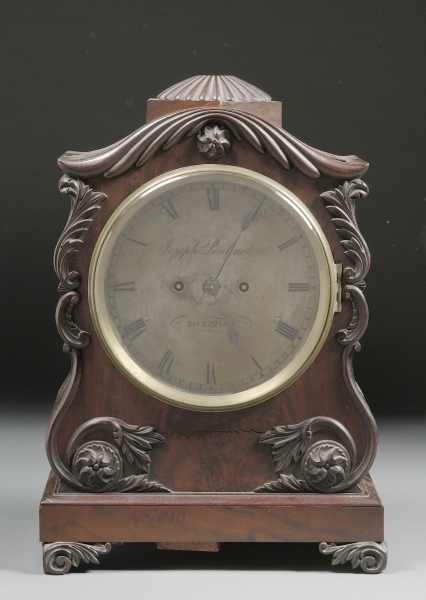 William IV Carved Mahogany Mantel Clock