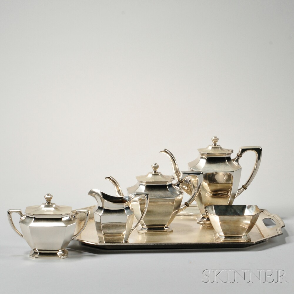 Six-piece Wallace Sterling Silver Tea and Coffee Service