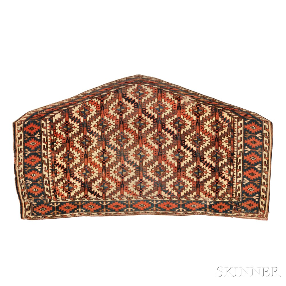 Three Turkoman Weavings and a Baluch BagfaceThree Turkoman Weavings and a...