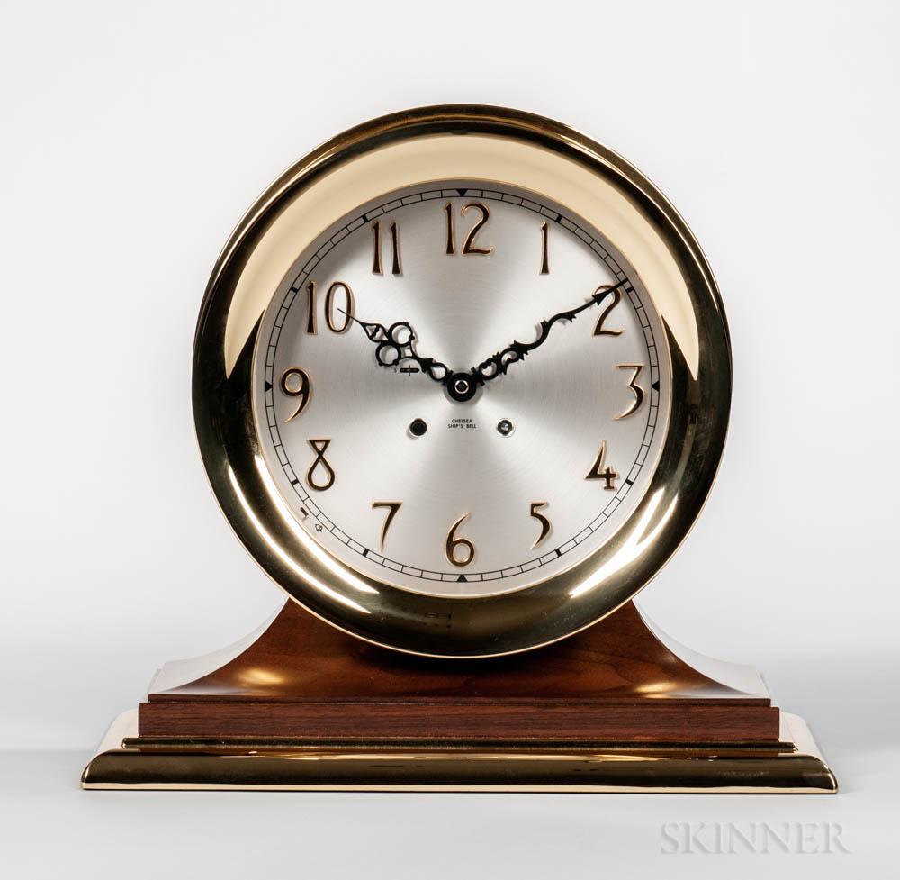 """Chelsea Clock Co. """"Commodore"""" Ship's Bell Clock in Original Box"""