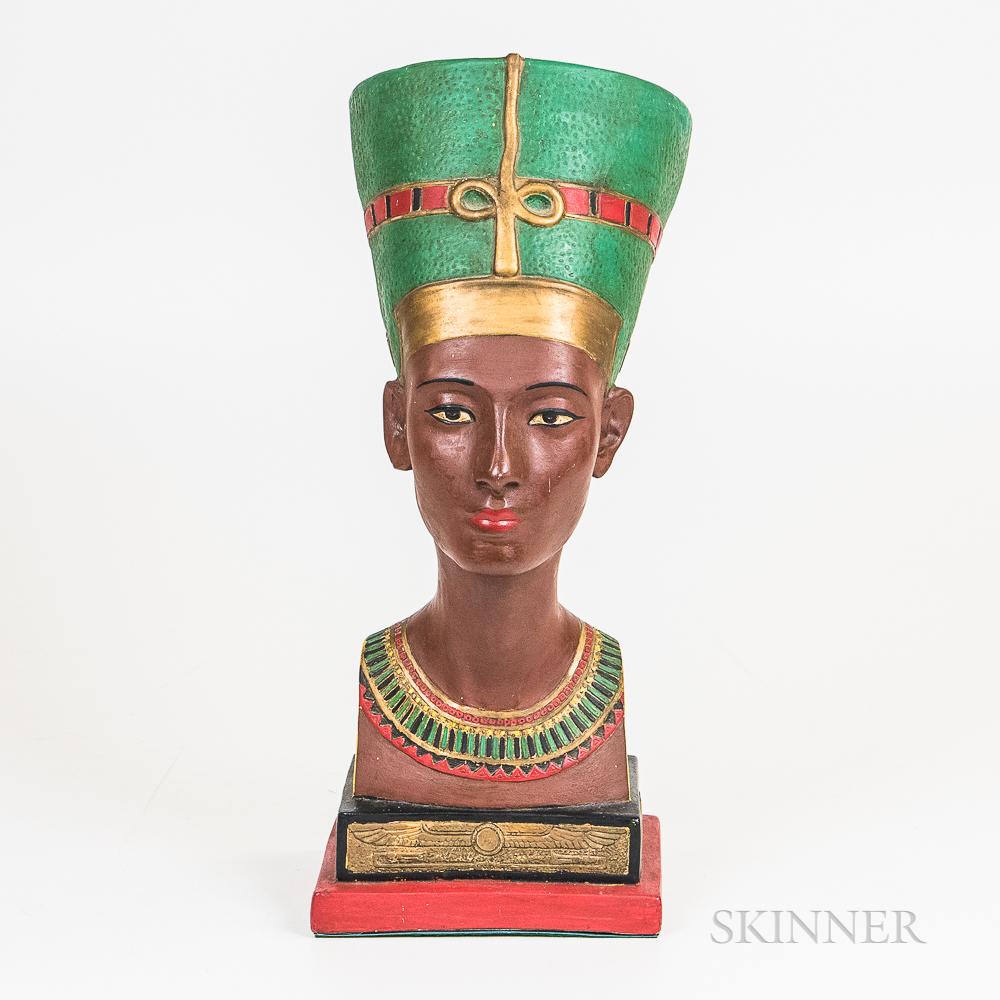 Polychrome Plaster Bust of Nefertiti