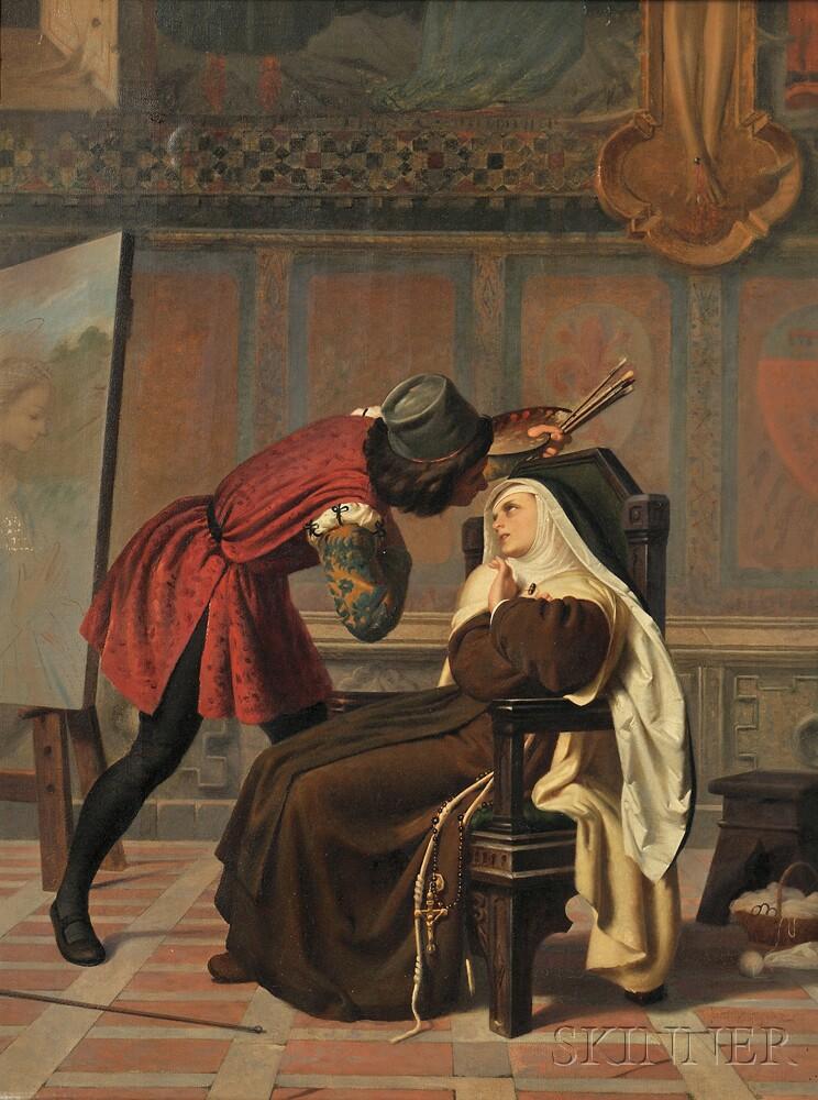 Attributed to Gabriele Castagnola (Italian, 1828-1883)      Filipo Lippi and the Sister Buti