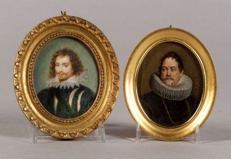 Two Portrait Miniatures of Gentlemen