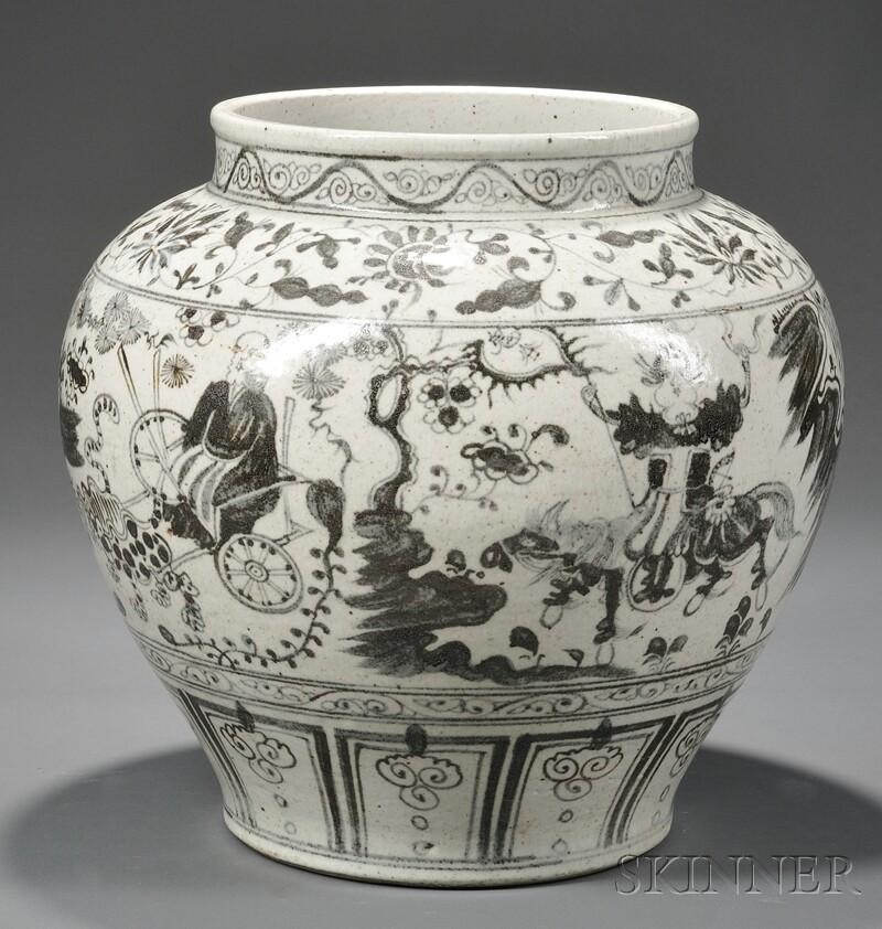 Chinese Guigu Xiashan-style Porcelain Jar