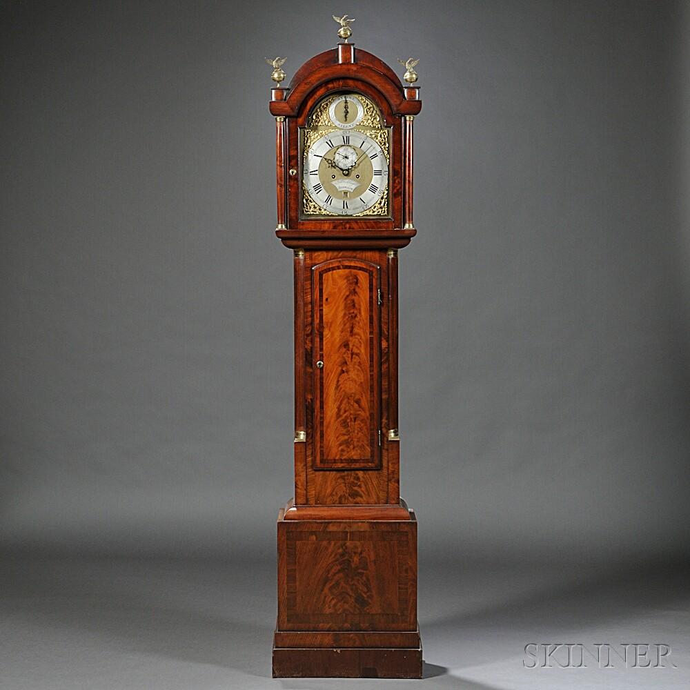 John Page Walnut Tall Clock