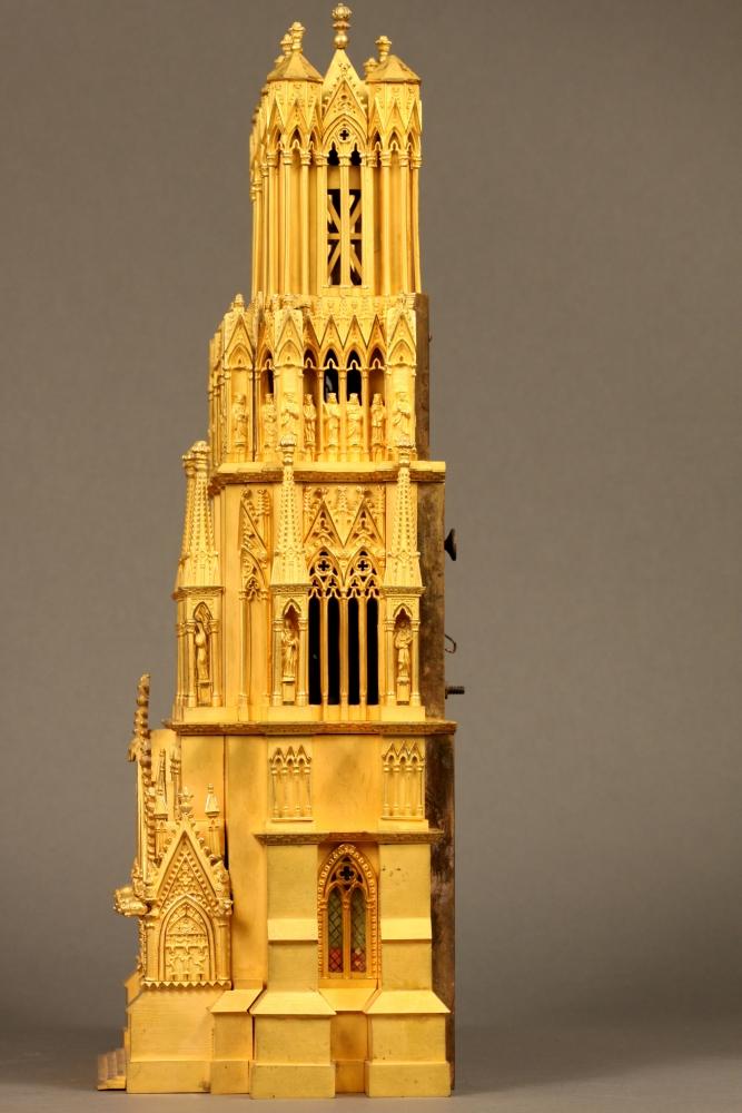 Gilt Reims Cathedral-form Shelf Clock