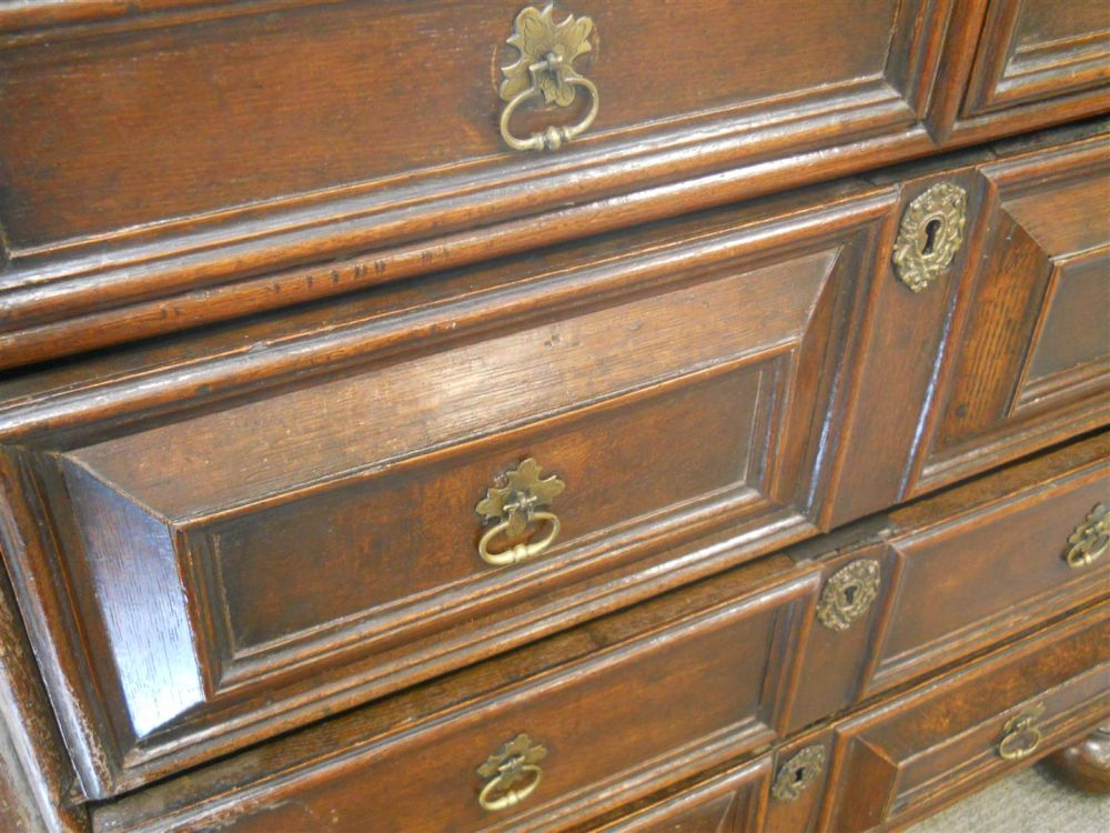 William and Mary Oak Four-drawer Chest