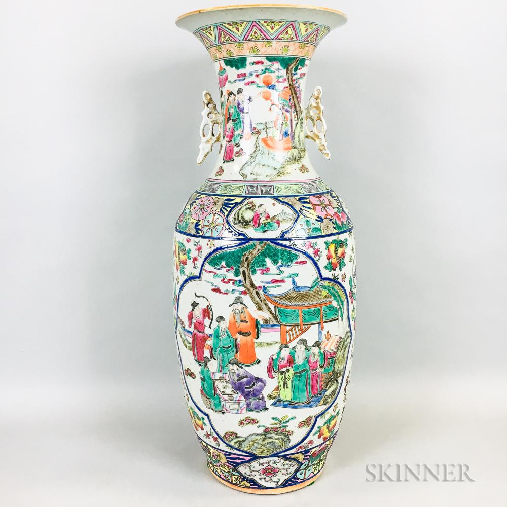 Large Enameled Vase