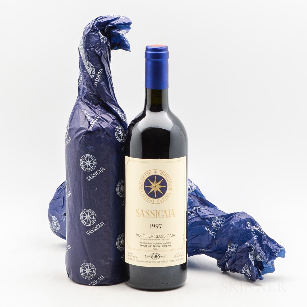 Tenuta San Guido Sassicaia 1997, 2 bottles