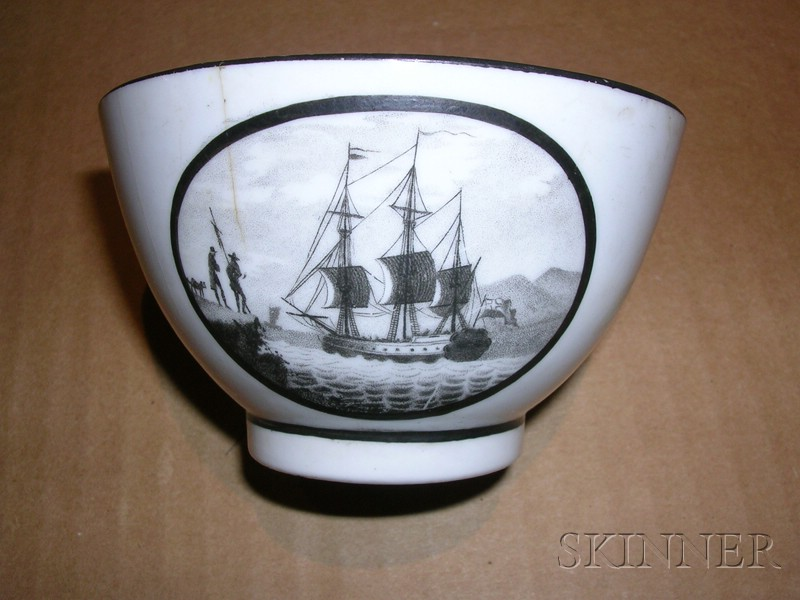 Seven Assorted  Ship-theme Ceramic Items