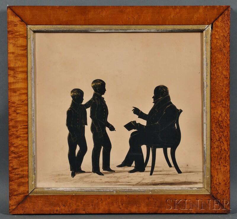Family Group Silhouette Portrait