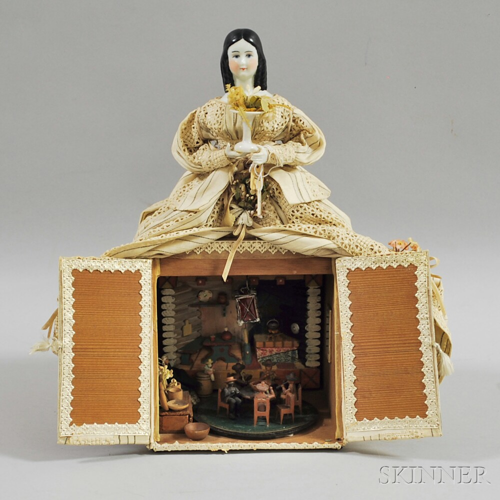 China Shoulder Head Hidden Diorama Doll
