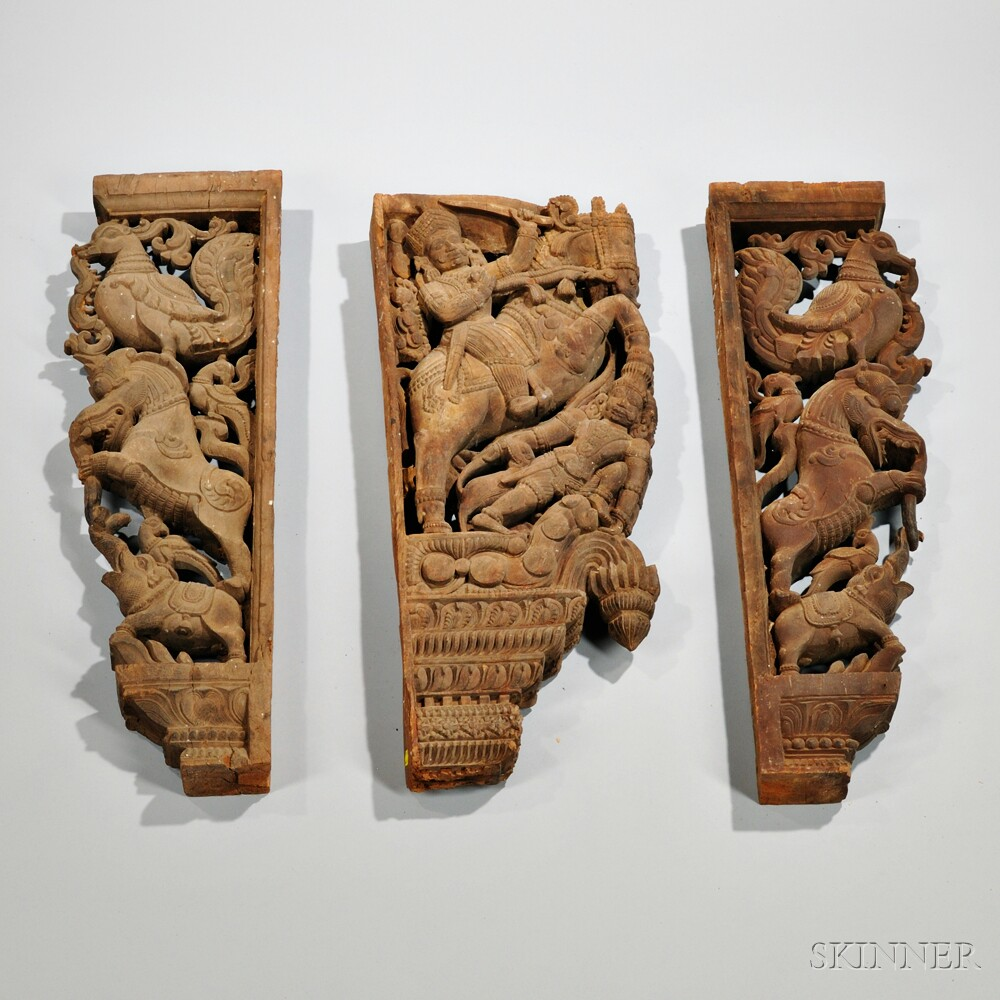 Three Carved Architectural Elements