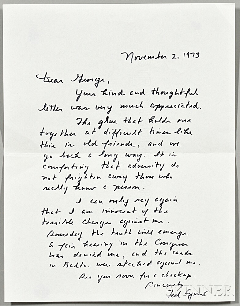 Agnew, Spiro T. (1918-1996) The Canfield Decision  , Signed Copy, First Edition, and Autograph Letter Signed.