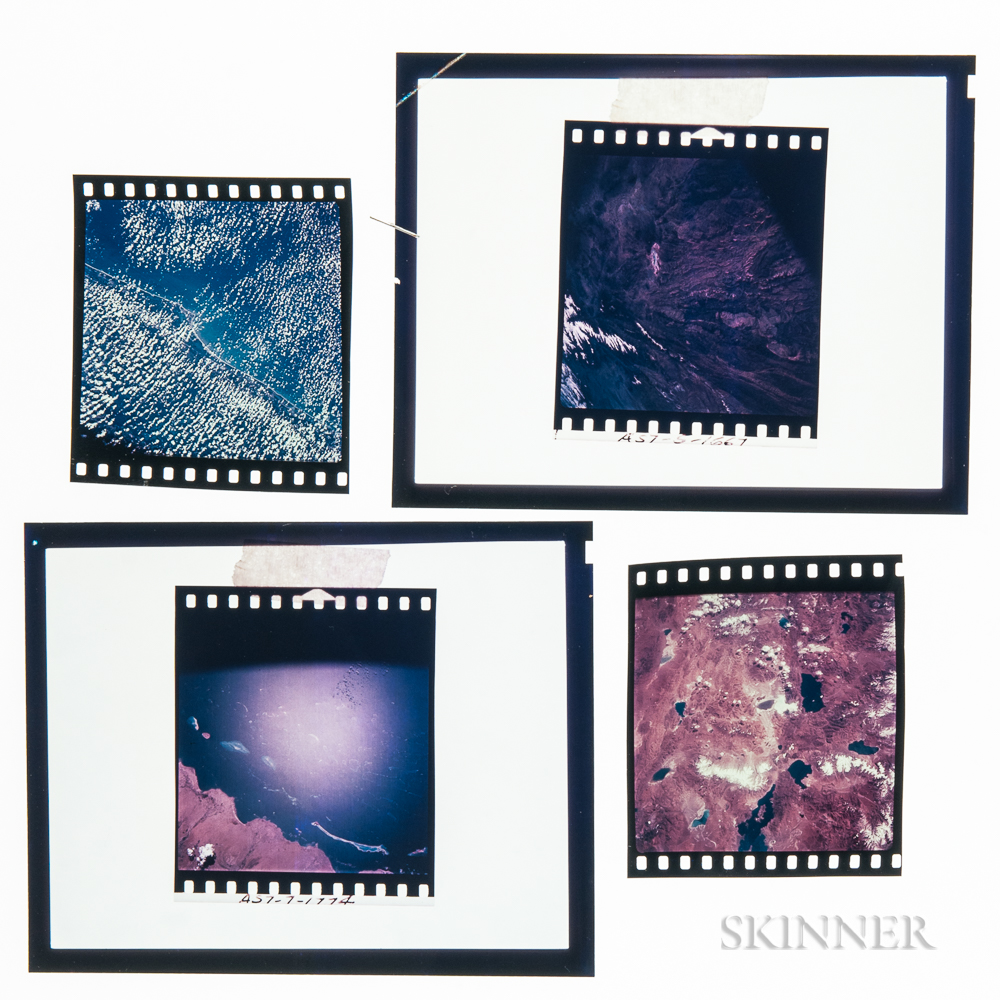Apollo 7, Earth-Sky Views, October 1968, Five Color Slides.