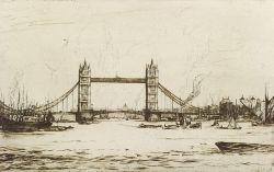 Anglo/American School, 20th Century  Lot of Two London Views:  London Bridge