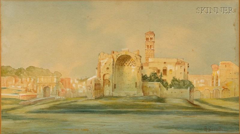 A. Borelli (Italian, 19th/20th Century)      Roman Forum