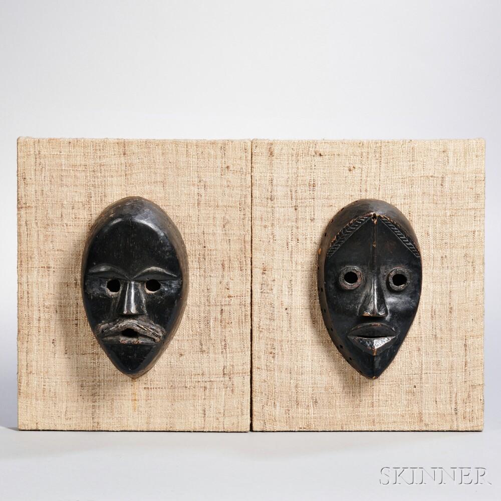 Two Dan Carved Wood Masks