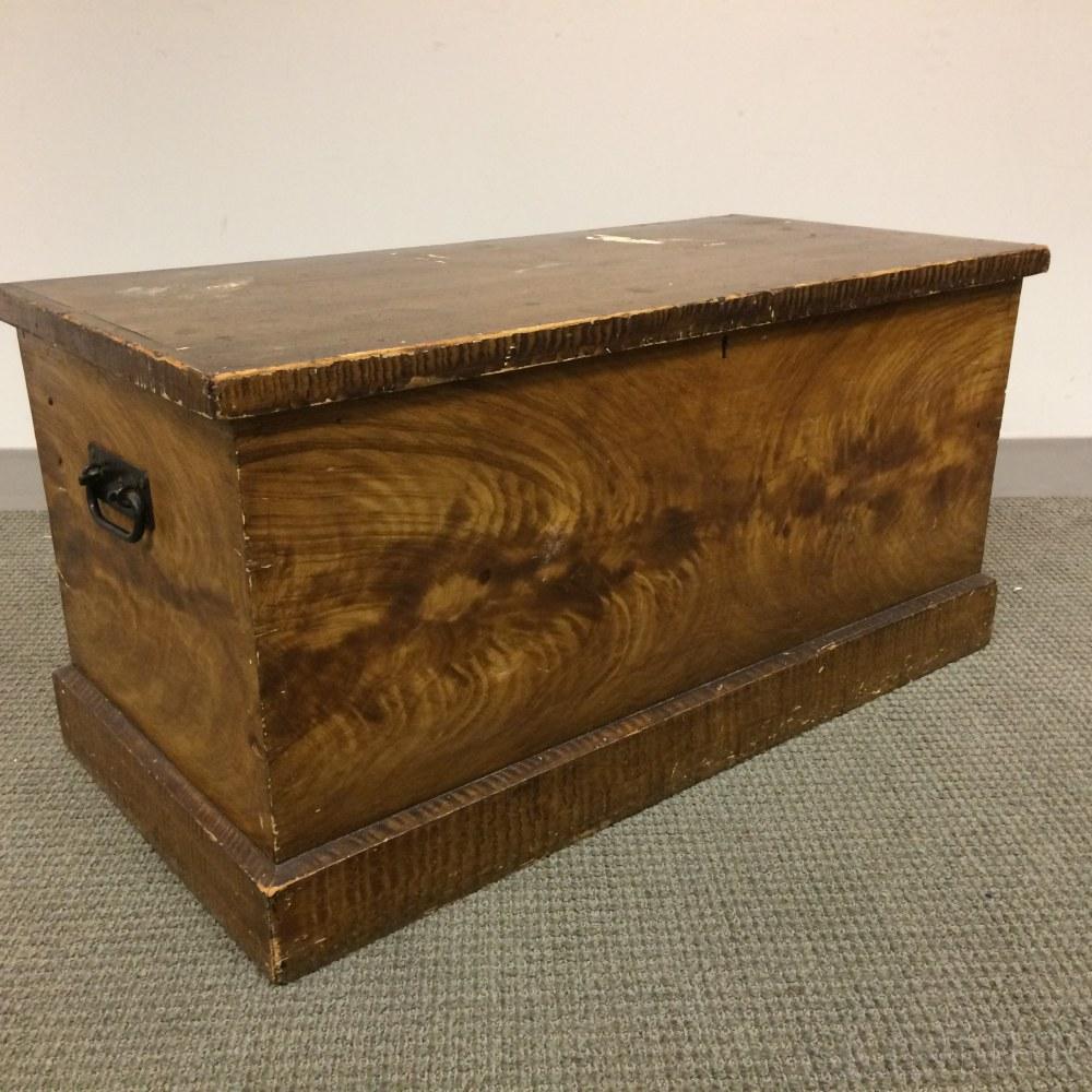 Grain-painted Pine Storage Box