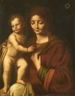 Italian School, 19th Century  Madonna and Child