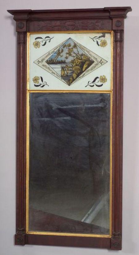 Federal Mahogany Carved Mirror
