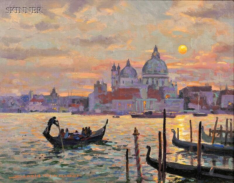 Donald Allen Mosher (American, b. 1945)      Venice at Dusk