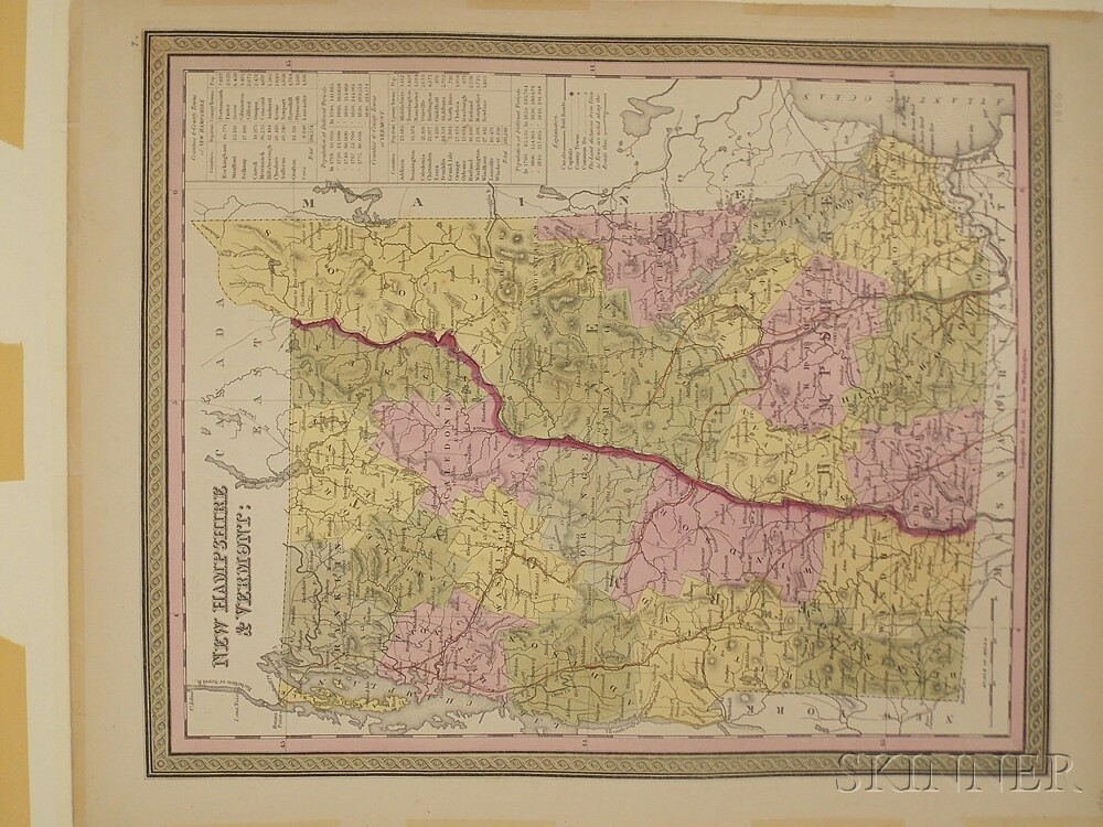 New England, Virginia, Washington, D.C., Seven Atlas Maps.