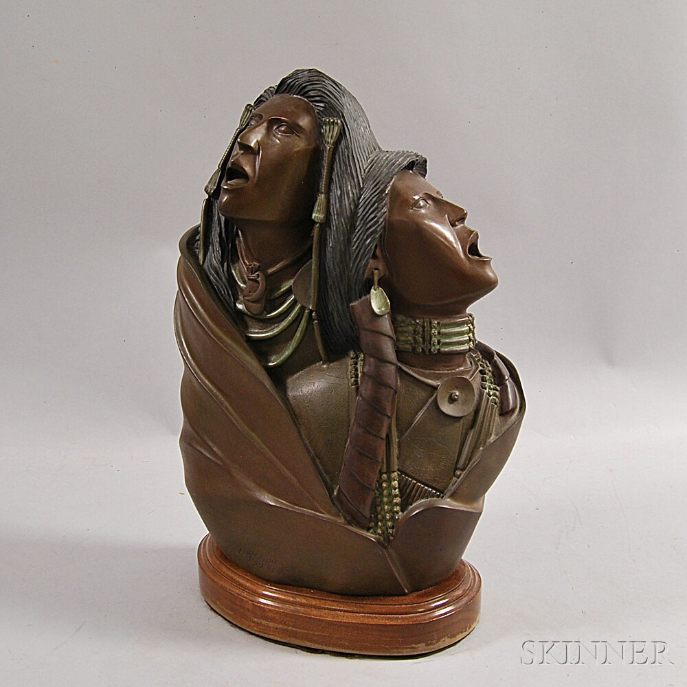 Larry Yazzie (Native American, 20th/21st Century)      Two Plains Warriors Asking for Grandfather's Help