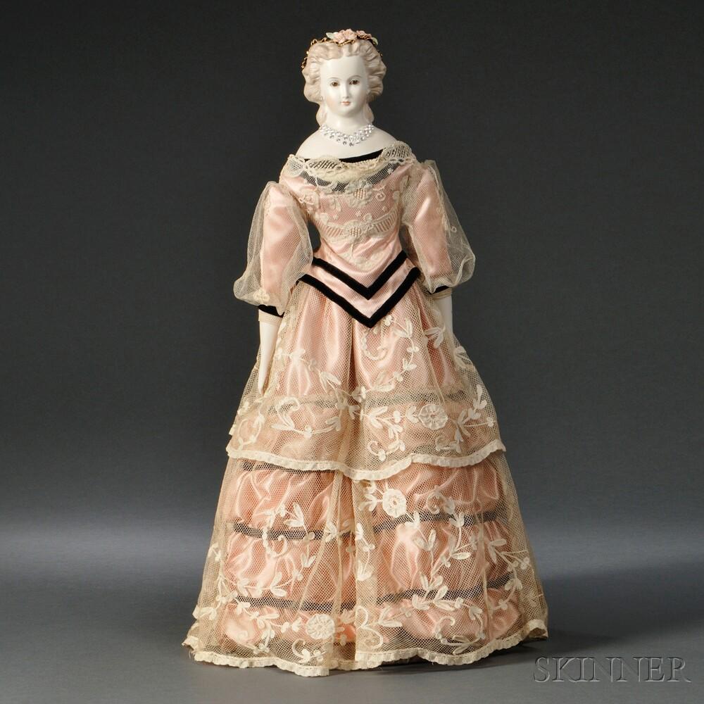 Blond Parian Shoulder Head Lady Doll