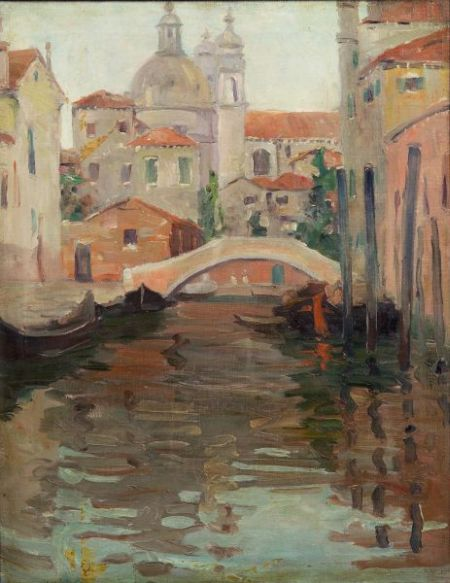 Jane Peterson (American, 1876-1965)    A Quiet Bridge in Venice