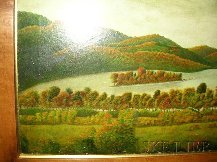 American School, 19th Century      New Hampshire Lake in Autumn.