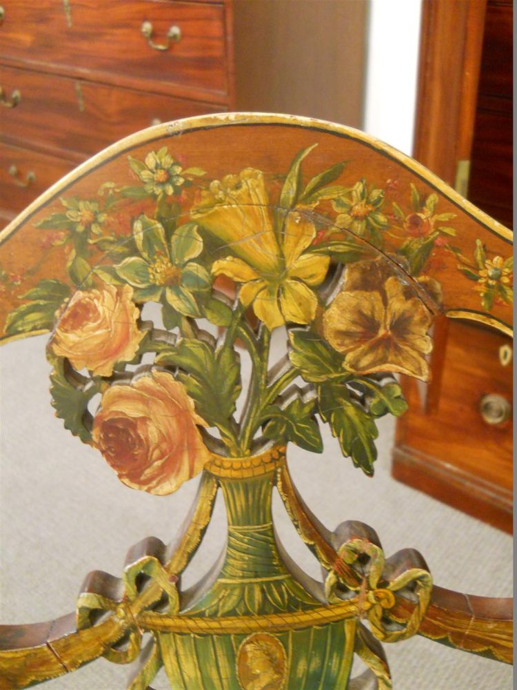 Three George III-style Painted Chairs