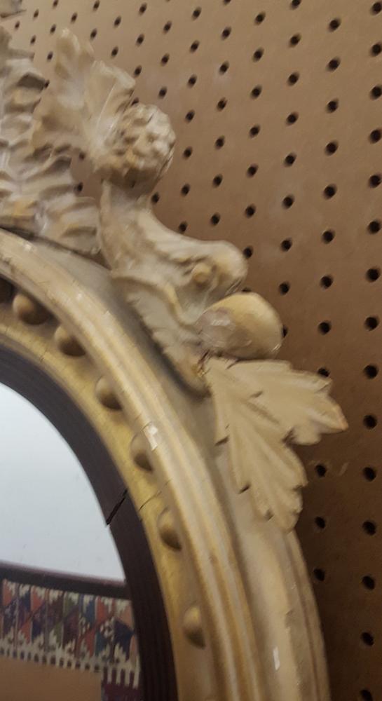 Classical Carved and Gilt-gesso Girandole Mirror